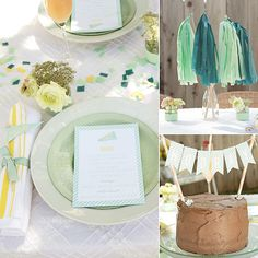 Baby Boy Shower -Color Scheme Ideas -Mint & Turquoise