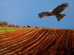 Artwork >> Sancelme Marie-Noelle >> Countryside landscape  #artworks, #nature, #paining, #masterpiece, #bird