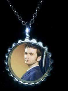 Doctor Who 10th Doctor David Tennant necklace $8 https://www.etsy.com/listing/182828623/david-tennant-10th-doctor-bottlecap