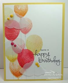Balloon Celebrations and Endless Birthday Wishes from the Stampin' Up! catalog What a lovely Summer card!
