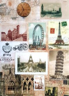 Rice Paper for Decoupage Decopatch Scrapbooking Sheet Craft Vintage City Mix