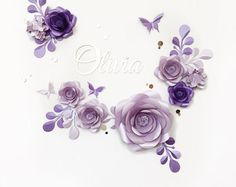 Paper Flower Wall  Paper Flower Backdrop  Wedding Wall  | Etsy