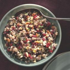 Barley & Wild Rice Pilaf with Pomegranate Seeds - EatingWell.com