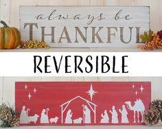 Christmas Decor, Nativity, Christmas Sign, Nativity Sign, Rustic Christmas, Fall…