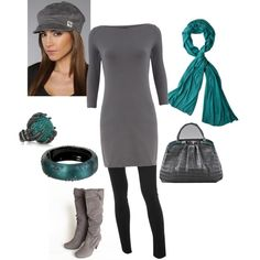 Comfy Style-gray with teal