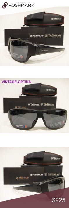 7e33ff7e69e4 Tag Heuer 9225 Racer 2 Sunglasses Black Polarized These are 100% Genuine