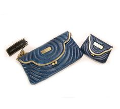 River Island Blue Clutch and Purse on glamouronthego.co.uk