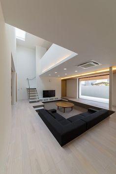 Sofá piso rebaixado - gosto muito do conceito do rebaixado