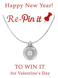 A sterling silver pendant to add more sparkle to your Valentine's Day: just re-pin it to win it!  To celebrate the stories of love that we transform into jewelry every week at Chris & Alix, we've got a special Valentine's Day gift for one lucky pinner!  Simply re-pin the sterling silver pendant on our Pinterest profile for a chance to win it! We'll draw the winner at random on Friday, February 6.  Click through for more details. #RePinToWin #PinItToWinIt #contest