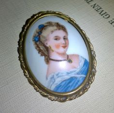 Limoges Brooch, Vintage Jewelry, Vintage Brooch, Porcelain, Vintage Pin, Costume Jewelry, Collectible, Gifts for Her, Enamel by TillyofBloomsbury on Etsy