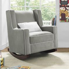 Baby Rocker Rocking Glider Nursing Chair Comfort Home Living Nursery Furniture Nursery Rocker, Rocking Chair Nursery, Baby Rocker, Nursery Boy, Rocking Chairs, Toddler Furniture, Nursery Furniture, Living Room Furniture, Living Rooms