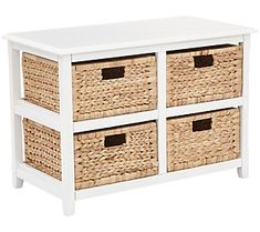 online shopping for Office Star Seabrook Storage Unit Natural Baskets, White Finish from top store. See new offer for Office Star Seabrook Storage Unit Natural Baskets, White Finish 4 Drawer Storage Unit, Dresser Storage, Storage Cabinets, Storage Baskets, Storage Chest, Basket Drawers, Mobile Storage, Plastic Drawers, Wood Chest