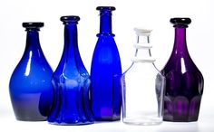 Selection of American decanters including an extremely rare amethyst Ashburton