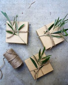 Organic Gift Wrapping Idea for party favors | Shop. Rent. Consign. MotherhoodCloset.com Maternity Consignment