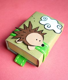 Miss Pickles hedgehog matchbox. #kawaii