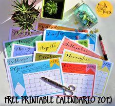 All Good Things Hand Made and more!: CALENDARIO 2015 FREE PRINTABLE