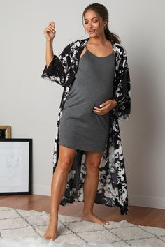 Maternity Sleepwear, Delivery Gown, Pink Blush Maternity, Blush Pink, Floral Prints, Cold Shoulder Dress, Gowns, Nursing, How To Wear