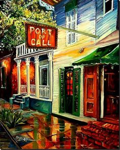 Port of Call Art. I need original New Orleans art framed and in my house, yesterday.