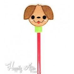 Puppy Pencil Topper Embroidery Design