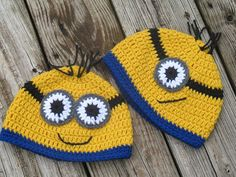 Crochet Minion Hat For Family