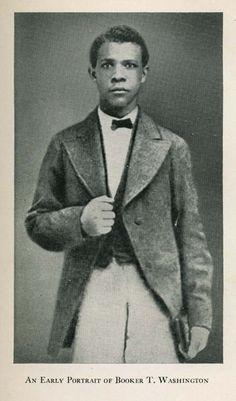 An early portrait of Booker T Washington