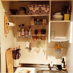 Kitchen/ダイソー/100均/1人暮らし/セリア/狭い キッチン...などのインテリア実例 - 2014-07-30 01:42:07