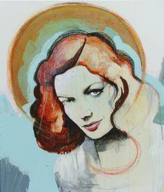 Veronica Normann Jensen. Lauren Bacall. 50x70