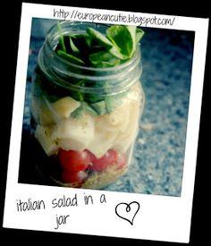 italian salad in a jar on MyRecipeMagic.com