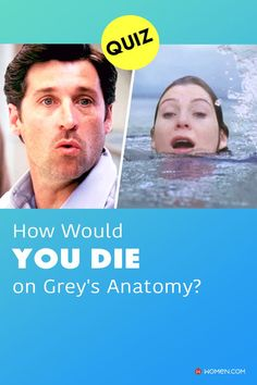 \Have you ever wondered how you would die on ABC's hit medical drama Grey's Anatomy? Take this quiz now to find out! #greyspersonalityquiz #personalityquiz #greysanatomypersonalityquiz #greys #GreysAnatomy #greysquiz #greysnostalgia #greysAnatomyTrivia #mcdreamy #izziestevens #yourdeath #death #greystragedies #greysdeath #greysanatomyscene Izzie Stevens, Callie Torres, Greys Anatomy Facts, Arizona Robbins, Cristina Yang, Medical Drama, Meredith Grey, Quizzes, How To Find Out