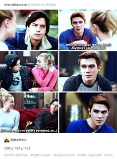 Riverdale ❤️ Archie's face in these scenes, it makes me think that he's jealous he had his chance and he said no to be with Betty I love bughead so much ! Riverdale Archie, Bughead Riverdale, Riverdale Funny, Riverdale Poster, Riverdale Betty, Betty Cooper, Alice Cooper, Riverdale Quotes, Lili Reinhart And Cole Sprouse