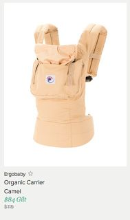 Ergobaby Carriers starting at only $84 (hurry won't last long!)