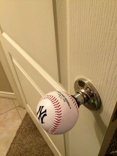 Yankee baseball doorknob. Perfect for a baseball family or a son s room.  Aunt 1ae805764c4c