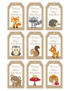 Woodland Friends Forest Animals Theme Baby by TheLovelyMemories Waldfreund-Waldtier-Thema-Baby durch TheLovelyMemories Baby shower themes Bingo Baby Shower, Idee Baby Shower, Shower Bebe, Baby Shower Printables, Baby Shower Favors, Baby Shower Themes, Shower Games, Shower Ideas, Shower Party