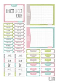 Free Project Life Kit: Journal Cards, Labels and Photo Pointers {Lien 1}