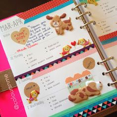 Coloursnme: Filofax Original Pink Fluoro A5 :: Dogs Inspired