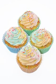 Rainbow Cupcake from Sian's Little Cakery, Grantham Lincolnshire. Colored Sugar, Rainbow Cupcakes, Cupcake Flavors, Cake Makers, Colorful Cakes, Vanilla Cupcakes, Desserts, Tailgate Desserts, Deserts