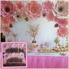 Pinks Paper flower DIY kit #diypartyideas