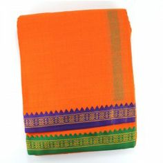 Dhoti with shawl - Orange