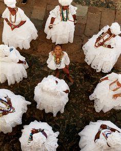 Roda de baianas em seus trajes tipicos. Salvador, estado da Bahia, Brasil.