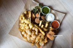 The Grand Fritto Misto (@ Napoli) Toronto Life, Little Italy, A3, Stuffed Mushrooms, Restaurant, Treats, Dishes, Vegetables, Food