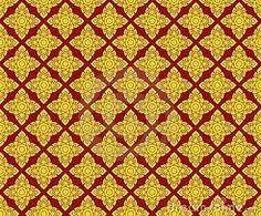 yellow diamonds on maroon