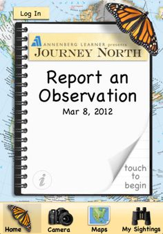 iPhone/iPad app that encourages kids as citizen scientists to report observations