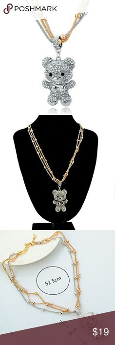 New Fashion Teddy Bear Necklace New cute Fashion Teddy Bear Necklace for all beautiful girls ;) Jewelry Necklaces