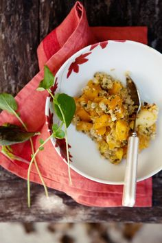 squash, apple and quinoa crumble from canelle et vanille