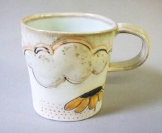 textured porcelain mug by Stepanka on Etsy