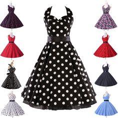 En 8colors Vintage Swing 1950 Ama De Casa Retro Pinup Noche Vestidos