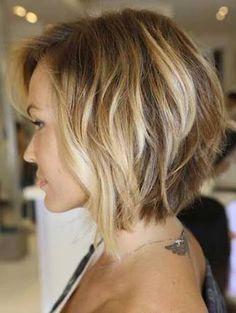 Image result for brunette angled  bob