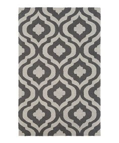 Another great find on #zulily! Gray & Ivory Impression Whitney Wool Rug #zulilyfinds
