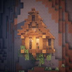 A small hillside house. A small hillside house. Minecraft Farmen, Villa Minecraft, Cute Minecraft Houses, Minecraft Houses Survival, Amazing Minecraft, Minecraft Houses Blueprints, Minecraft Construction, Minecraft House Designs, Minecraft Tutorial