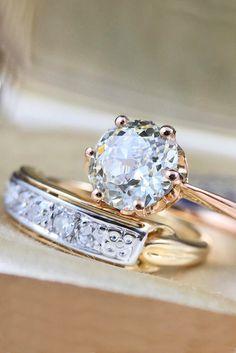21 Wedding Ring Sets That Make The Perfect Pair ❤ See more: http://www.weddingforward.com/wedding-ring-sets/ #wedding #engagement #ring #sets